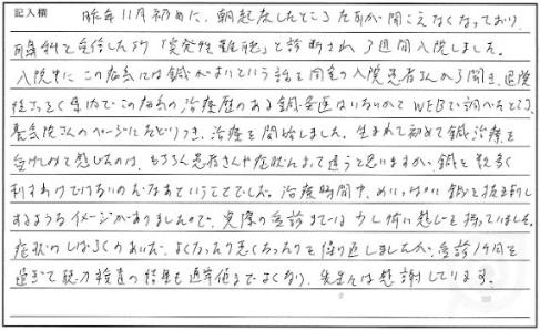 MMさんの体験談(耳鳴り)