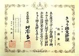 免許証_きゅう師_佐藤章代