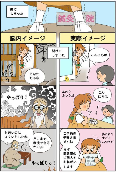 鍼灸院で逆子を直した漫画(第2話)